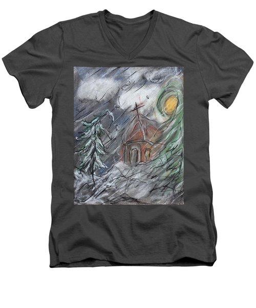 Beauty Of Winter Men's V-Neck T-Shirt