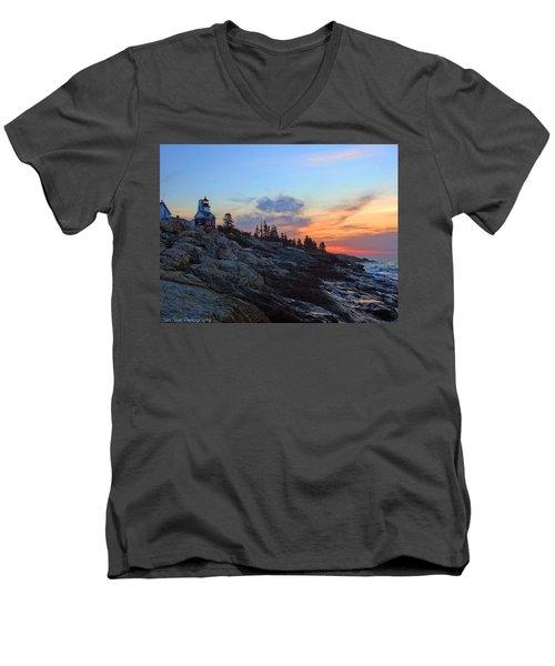 Beauty On The Rocks Men's V-Neck T-Shirt