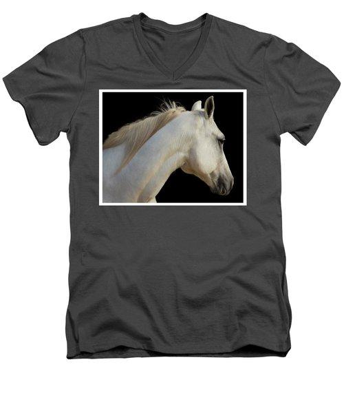 Beauty Men's V-Neck T-Shirt by Sharon Jones