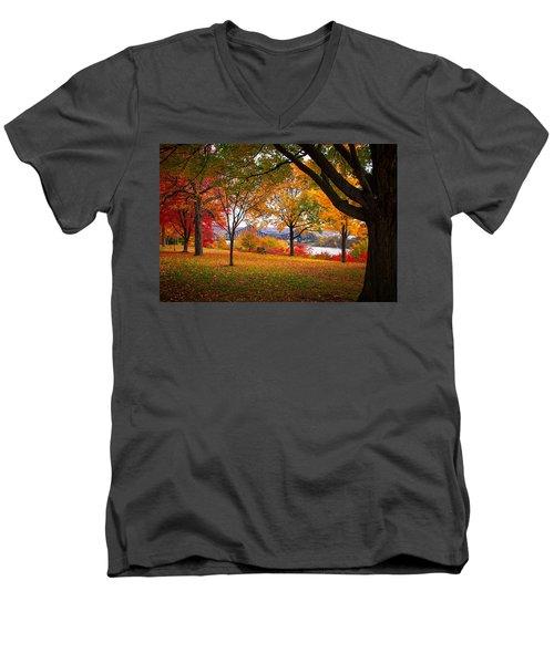 Beaver Park Men's V-Neck T-Shirt by Emmanuel Panagiotakis