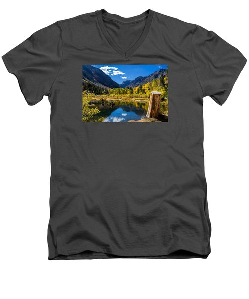 Beaver Pond Men's V-Neck T-Shirt