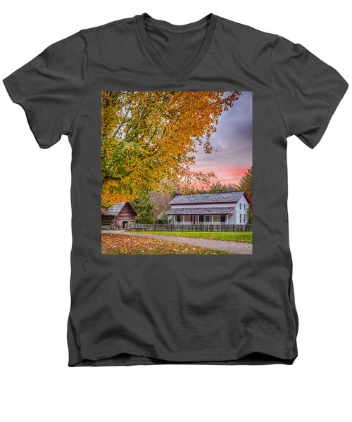 Men's V-Neck T-Shirt featuring the photograph Becky Cabel House by Tyson and Kathy Smith