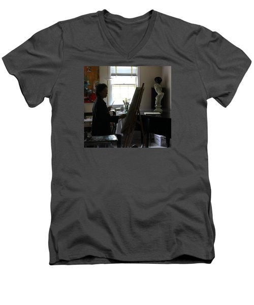 Becky Painting Chopin Men's V-Neck T-Shirt