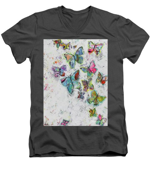 Becoming Free Men's V-Neck T-Shirt by Kirsten Reed