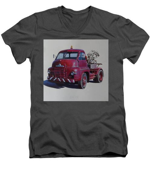 Bedford S Type Wrecker. Men's V-Neck T-Shirt by Mike  Jeffries
