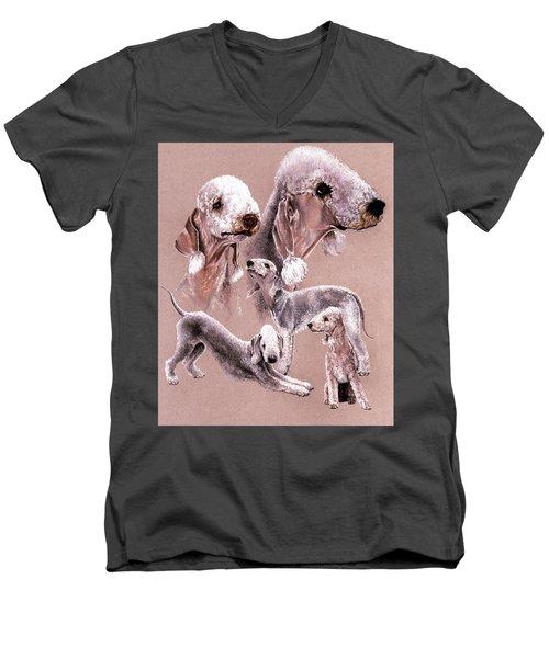 Bedlington Terrier Men's V-Neck T-Shirt