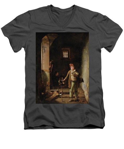Bedroom Or The Little Groundhog Shower Men's V-Neck T-Shirt by MotionAge Designs