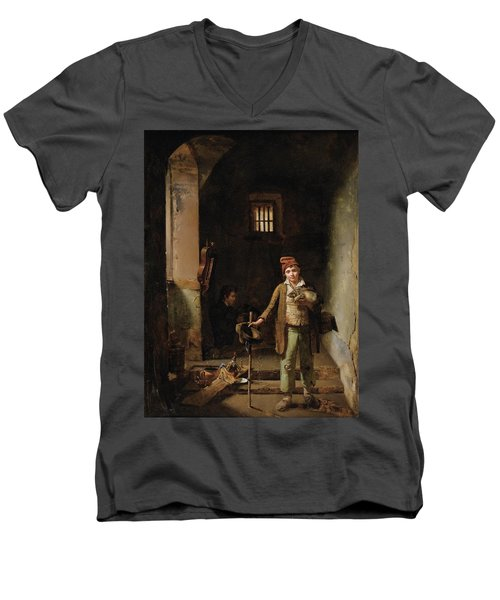 Bedroom Or The Little Groundhog Shower Men's V-Neck T-Shirt