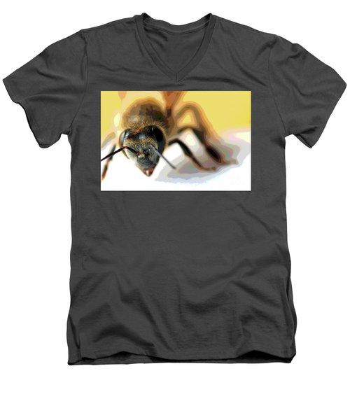 Bee In Macro 5 Men's V-Neck T-Shirt