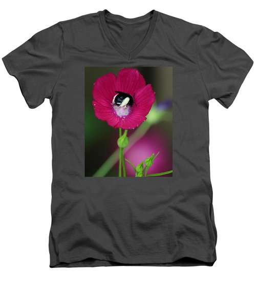 Men's V-Neck T-Shirt featuring the photograph Bee My Guest by Elizabeth Sullivan