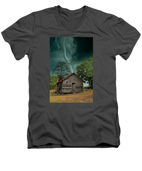 Men's V-Neck T-Shirt featuring the photograph Been There Before by Jan Amiss Photography