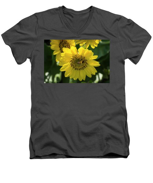 Bee's Work Is Never Done Men's V-Neck T-Shirt