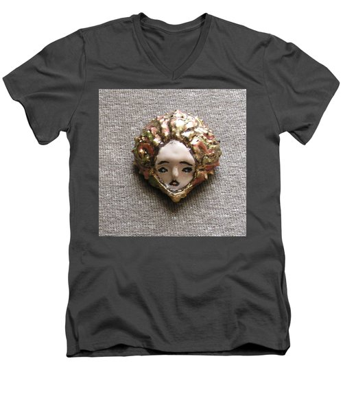 Men's V-Neck T-Shirt featuring the photograph Before Pixel Pointillism by R  Allen Swezey