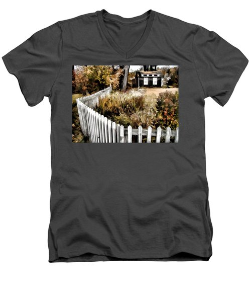 Before Snow Flies Men's V-Neck T-Shirt by Betsy Zimmerli