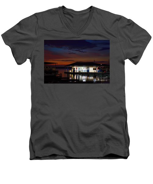 Before Sunrise Men's V-Neck T-Shirt by Diana Mary Sharpton
