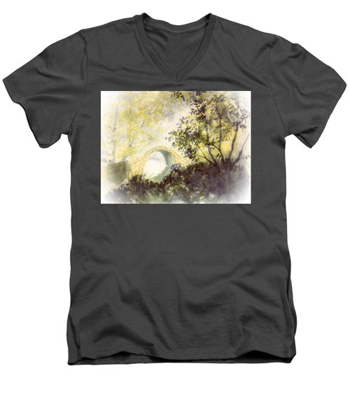 Beggar's Bridge Vignette Men's V-Neck T-Shirt