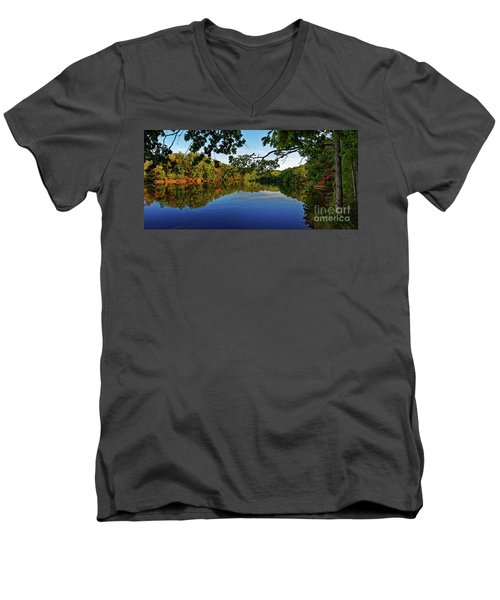 Beginning To Look Like Fall Men's V-Neck T-Shirt by Paul Mashburn