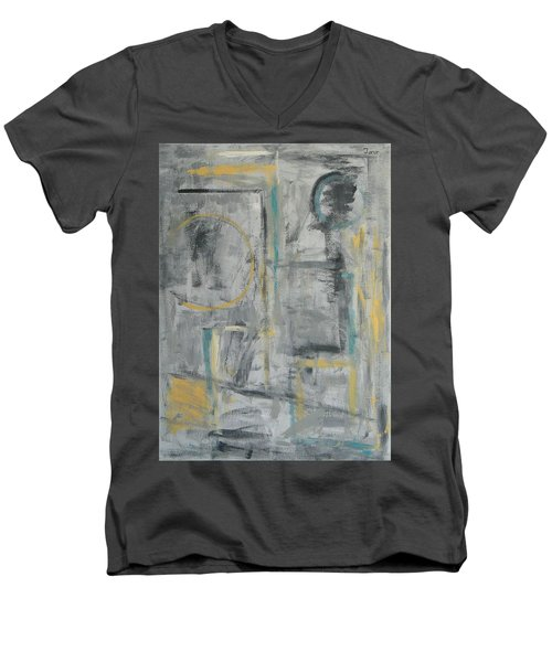 Behind The Door Men's V-Neck T-Shirt by Trish Toro