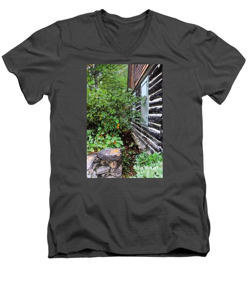 Behind The Dorm At The Clearing Men's V-Neck T-Shirt