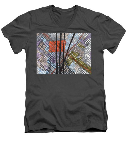 Behind The Fence Men's V-Neck T-Shirt by Sandra Church