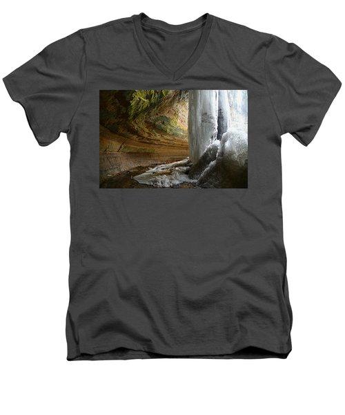 Behind The Ice Falls Men's V-Neck T-Shirt