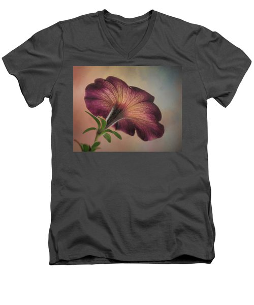 Men's V-Neck T-Shirt featuring the photograph Behind The Scene by David and Carol Kelly