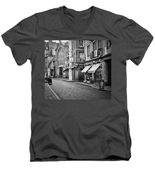 Behind The Walls 01 Men's V-Neck T-Shirt by Elf Evans