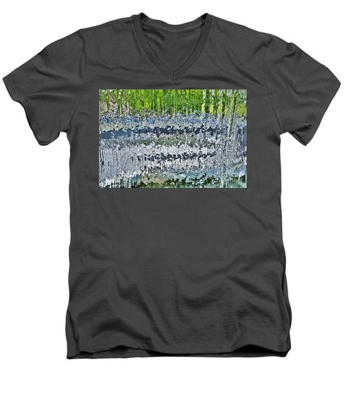 Behind The Waterfall Men's V-Neck T-Shirt