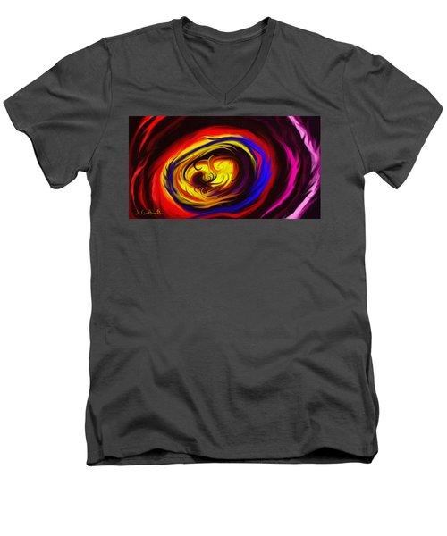 Beholden Men's V-Neck T-Shirt by Jennifer Galbraith