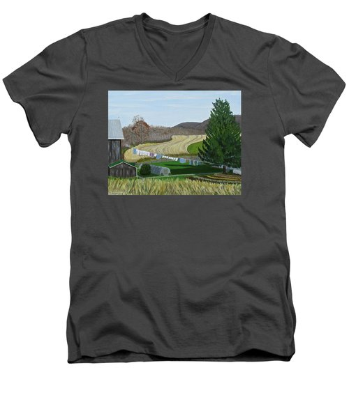 Beiler's View Of Egg Hill Men's V-Neck T-Shirt