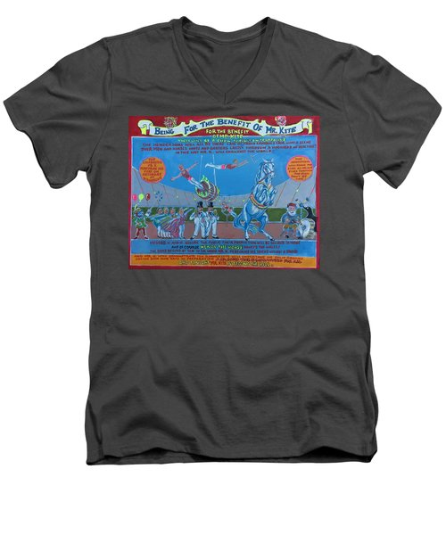 Being For The Benefit Of Mr. Kite Men's V-Neck T-Shirt