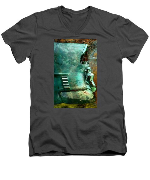 Belair Grunge Men's V-Neck T-Shirt by Greg Sharpe