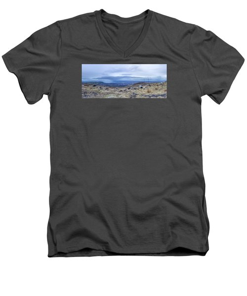 Belfast Lough From Divis Mountain Men's V-Neck T-Shirt