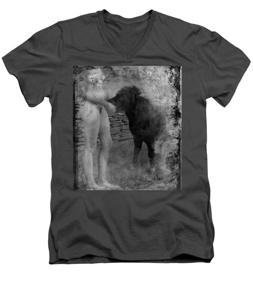 Belfast Nude With Mininature  Men's V-Neck T-Shirt