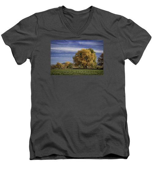 Belfry Fall Landscape 7 Men's V-Neck T-Shirt
