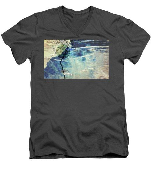 Believe Men's V-Neck T-Shirt by AugenWerk Susann Serfezi