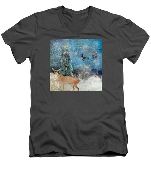 Believe Men's V-Neck T-Shirt by Diana Boyd
