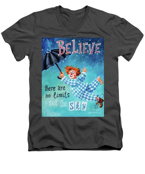 Believe Men's V-Neck T-Shirt by Igor Postash