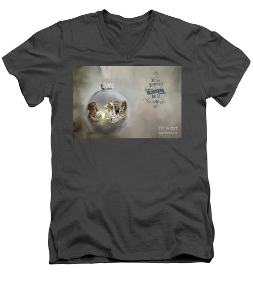 Believe In The Magic Of Christmas Men's V-Neck T-Shirt