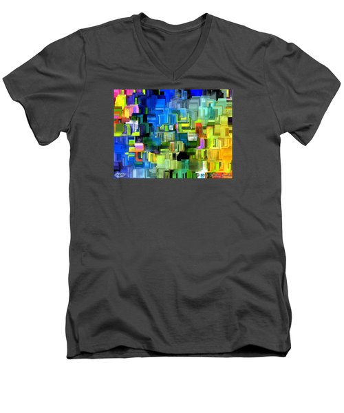 Believe What You Say Men's V-Neck T-Shirt by Holley Jacobs