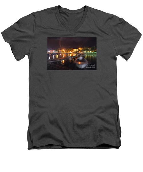 Belizean Night  Men's V-Neck T-Shirt by Yuri Santin