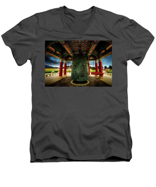 Men's V-Neck T-Shirt featuring the photograph Bell Of Friendship 2 by Joseph Hollingsworth