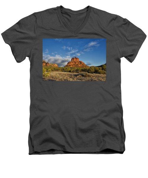 Bell Rock Beams Men's V-Neck T-Shirt by Tom Kelly