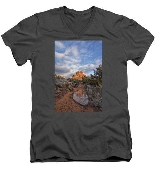 Bell Rock Beckons Men's V-Neck T-Shirt by Tom Kelly