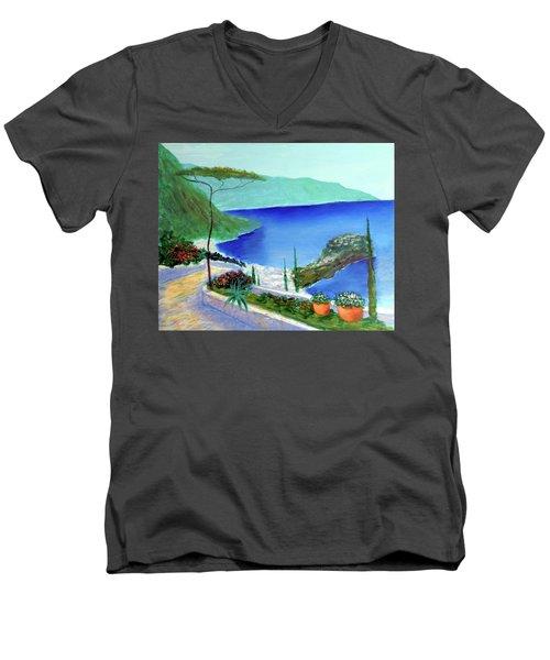 Bella Monaco  Men's V-Neck T-Shirt