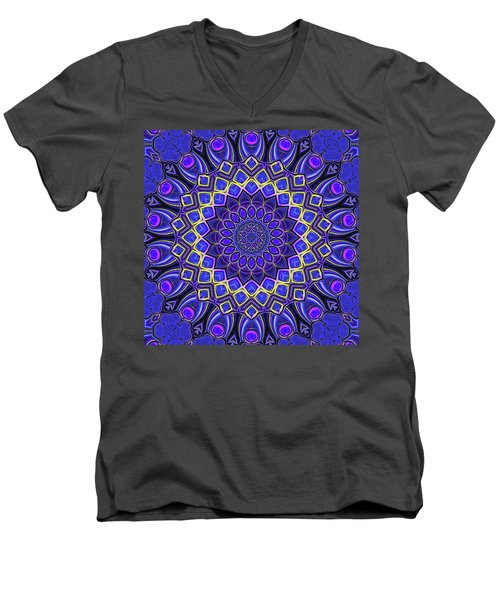Men's V-Neck T-Shirt featuring the digital art Bella - Purple by Wendy J St Christopher