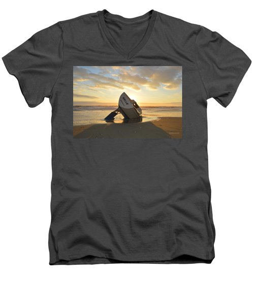 Belle At Sunrise Men's V-Neck T-Shirt