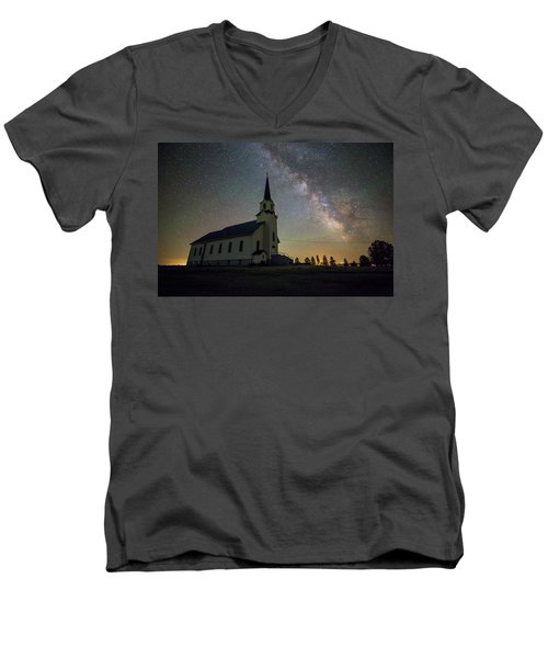Men's V-Neck T-Shirt featuring the photograph Belleview by Aaron J Groen