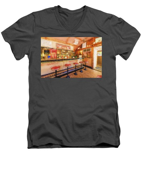 Bellows Falls Diner Men's V-Neck T-Shirt