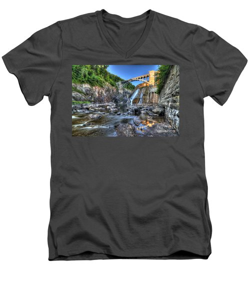 Below The Dam Men's V-Neck T-Shirt